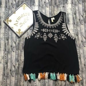 ⚡️Chenault Embroidered Sleeveless Tank Top